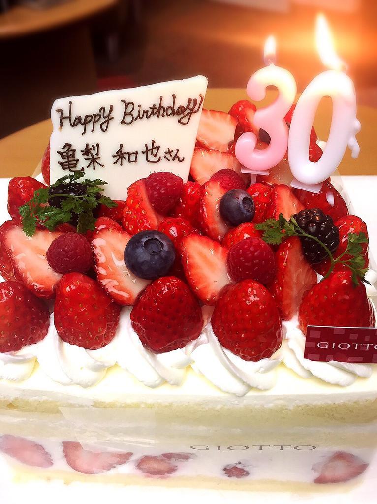 【HAPPY BIRTHDAY】ちょっと早いですが亀梨さんの30歳のお誕生日をみんなでお祝いしました!おめでとうございます(*^ー^)ノ#going_tv #ntv