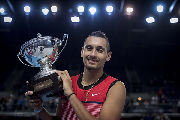 Congrats to @NickKyrgios for his first @ATPWorldTour title!