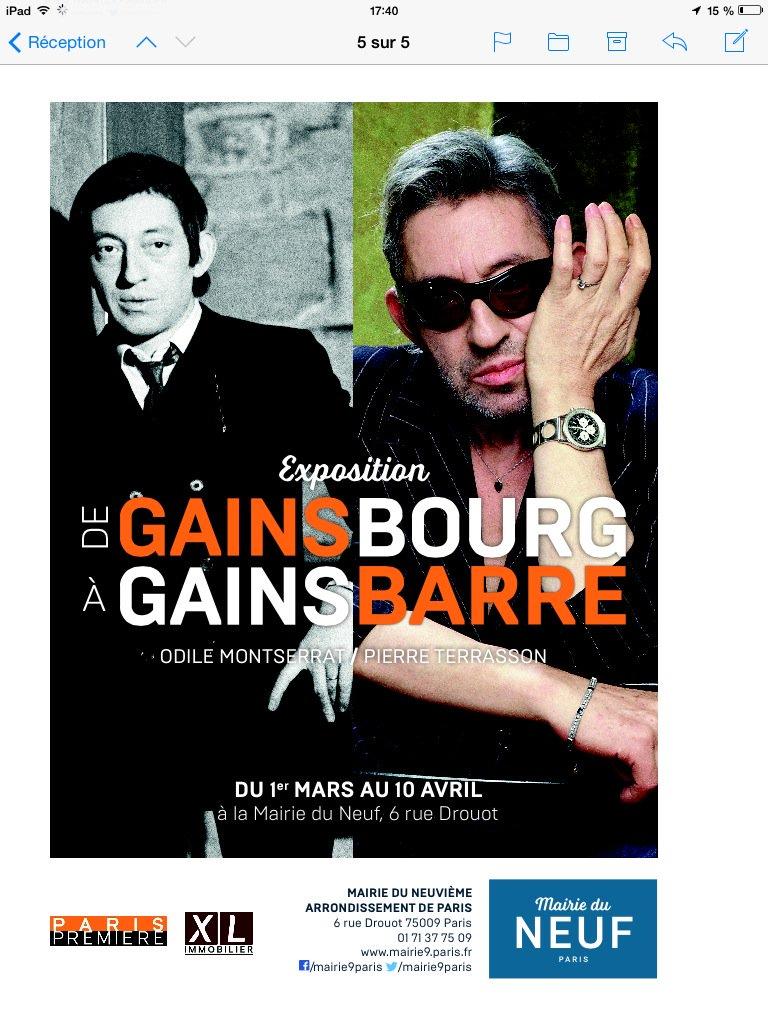 Devoilementd'une plaque commémorative jeudi 10 Mars à 12h30 11 bis rue chaptal. #Gainsbourg #Mairie9Paris #jfguyotpic.twitter.com/p77PtY5ZCh