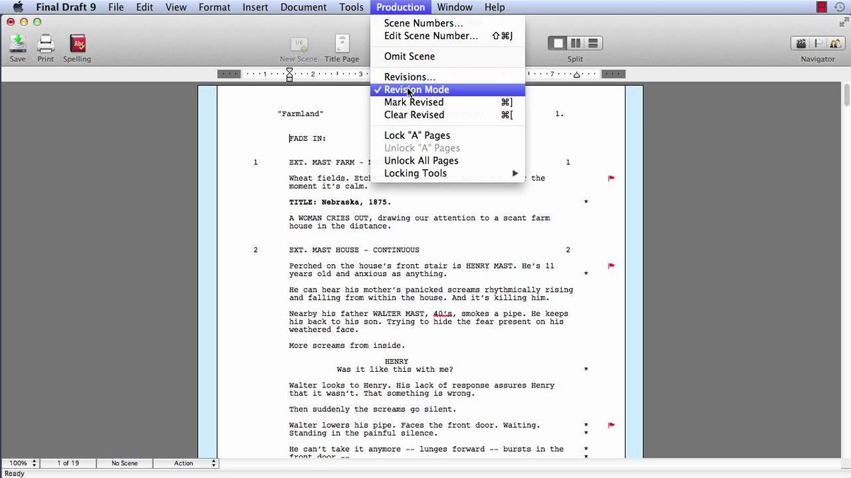 """final draft on twitter: """"quick fd9 tutorial to help your rewriting"""
