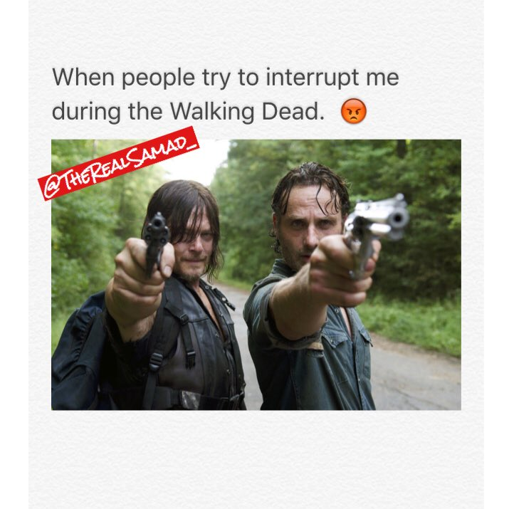 People trying to interrupt my show!  #twd #thewalkingdead @WalkingDead_AMC @AMCTalkingDead https://t.co/e9vMcl7Jlz