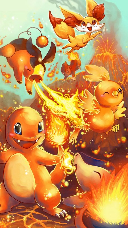Mobile Wallpapers On Twitter Fire Starter Pokemon Characters Tco 7wDkbrCprY Wallpaper Nexus Charmander Cyndaquil