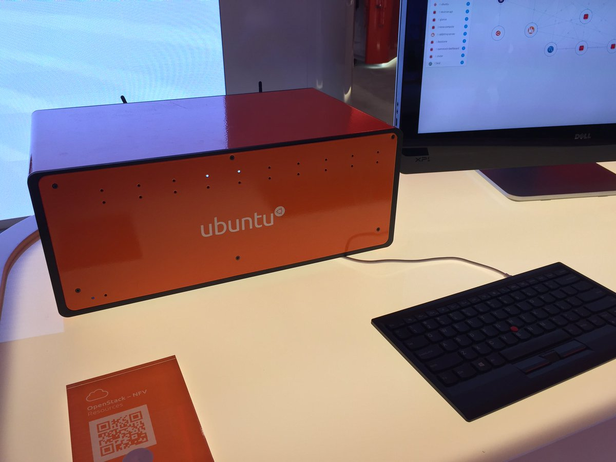 Cool Ubuntu cloud server box thing - with 10 Intel NUCs inside. #MWC16 https://t.co/DA7ydGgd8G
