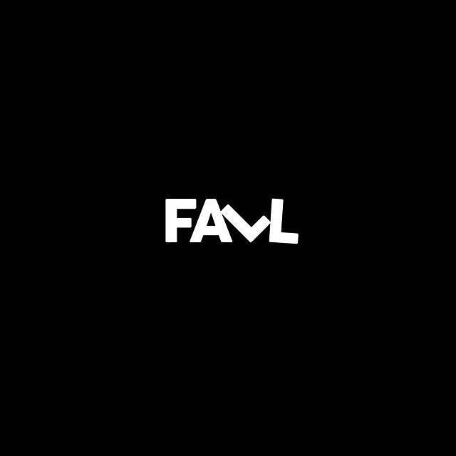 Fall Down Logo by @urosyid  #fall #typotopia #logo #symbols #icon #adobeillustrator #black #white #simple #simplede…