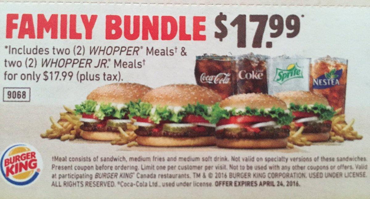 Family Bundle Burger King