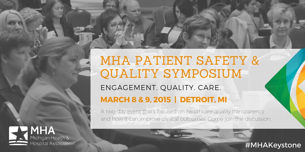 We will be 'live' Tweeting from our #PatientSafety & Quality Symposium tomorrow using hashtag #MHAKeystone! Join us! https://t.co/OcnOs1H1Jy