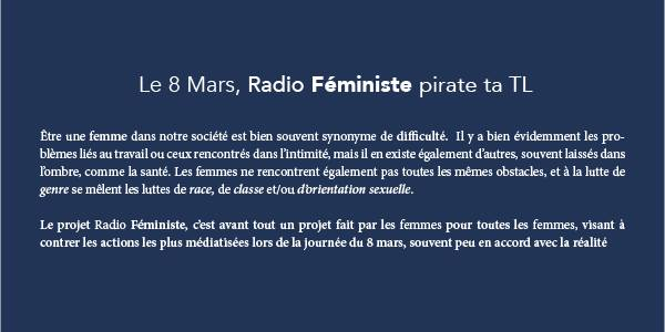Cover photo for Radio Féministe