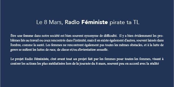 Cover photo for Radio Féministe