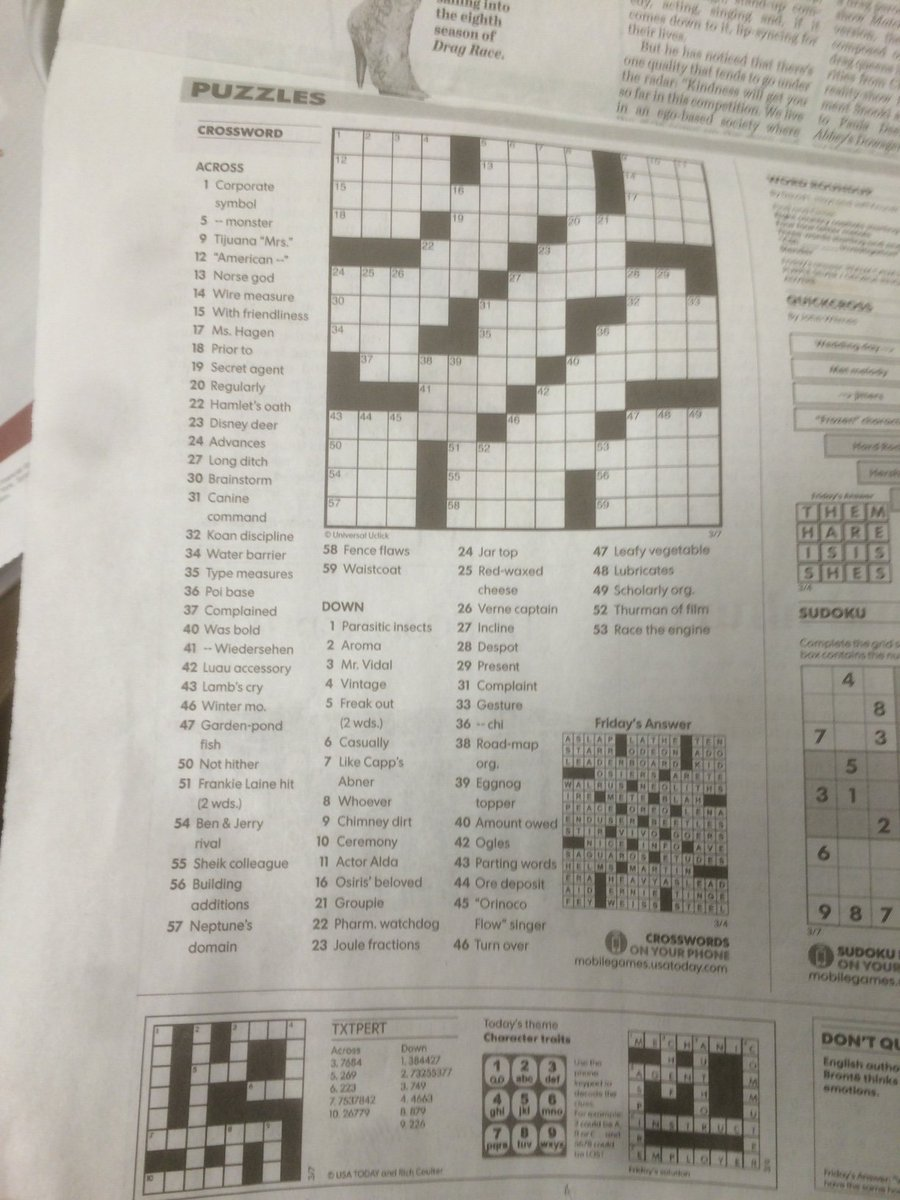 Oliver Roeder On Twitter Print Statement And Crossword In