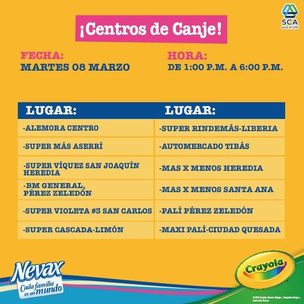 Atención amigos!!! estos son los centros de canje para mañana martes 8 de marzo. :) https://t.co/kLQwa6nKTV