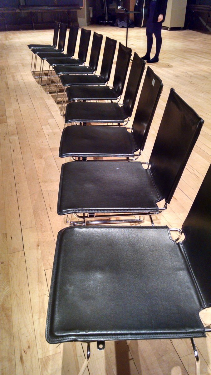 Even the chairs are excited! #AhcityJAZZ https://t.co/s5NSaRDav3
