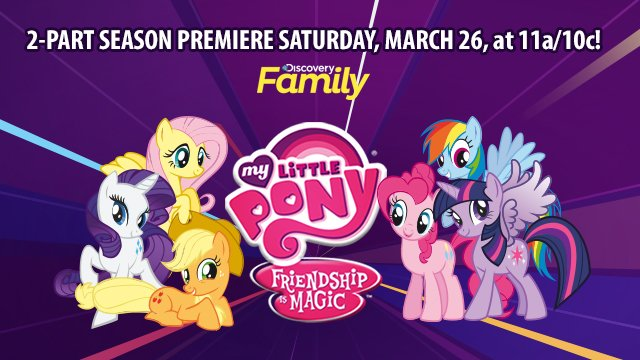 Pony fans, the #Mane6 are baaacckk! SATURDAY, MARCH 26, AT 11a/10c on @DiscFamilyDay! #MLP https://t.co/rCqlT6eHG2