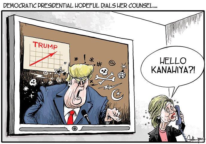 #cartoon @timesofindia #Kanhaiya #Trump #Hillary https://t.co/MNS6qlilFq
