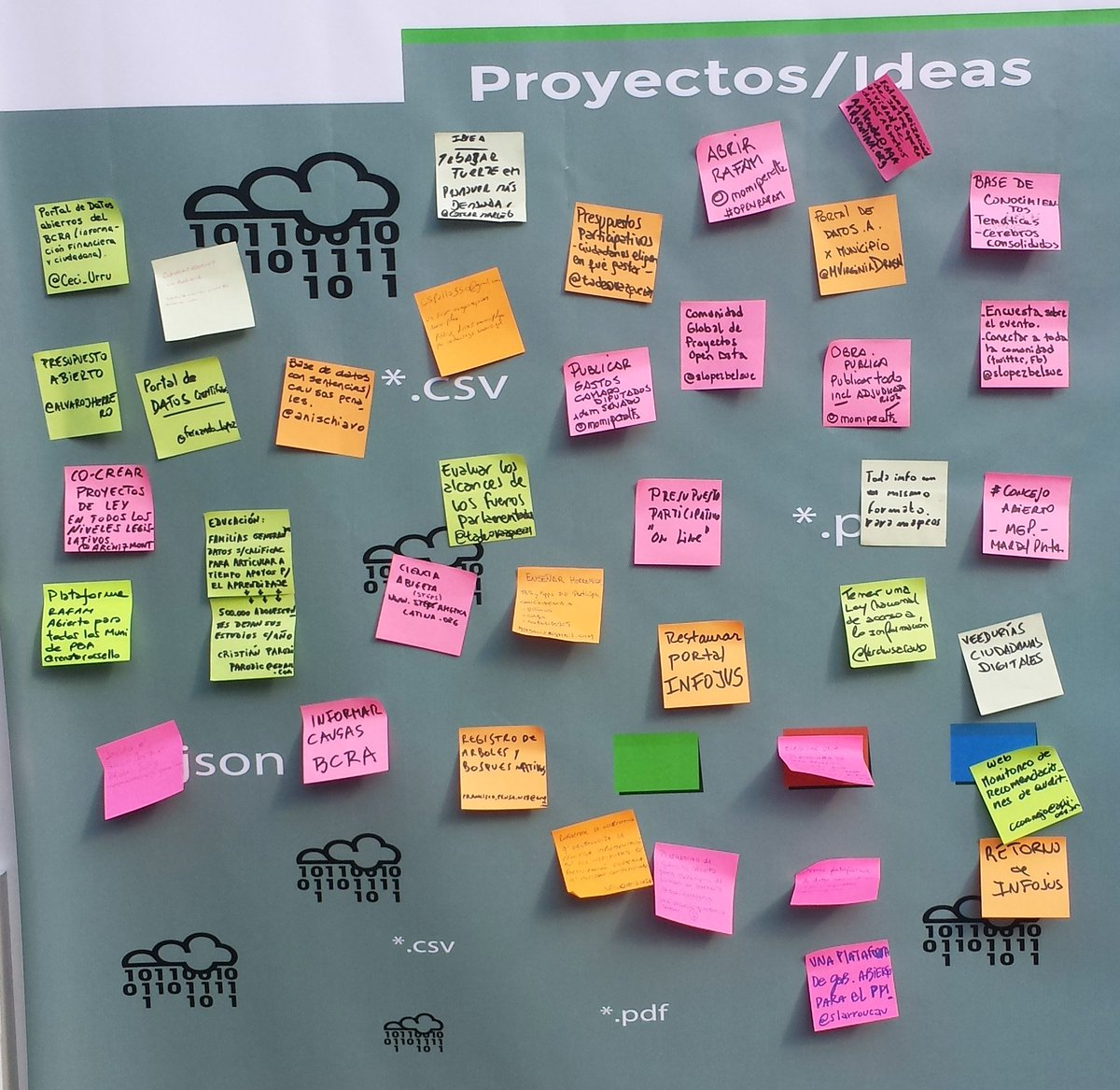Ideas & Proyectos! @OKFNAR  #OpenDataDay #Argentina https://t.co/29YNzuhVXG
