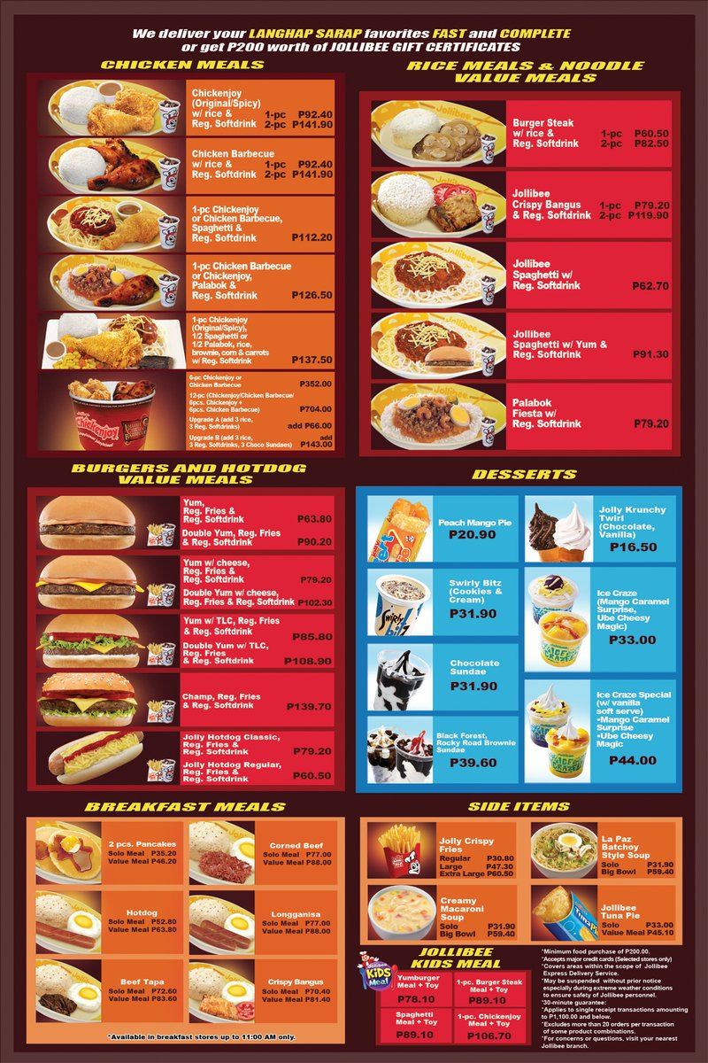 how to order jollibee delivery