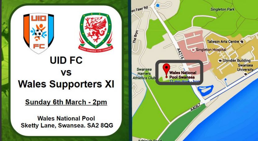 Go and cheer on @uidswansea football team. Today at 2pm