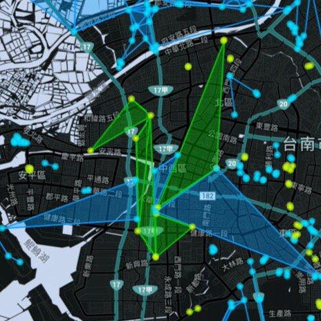 今天台南藍綠共繪祈福紙鶴 #ingress #tainan #taiwan https://t.co/ytXEWneslD