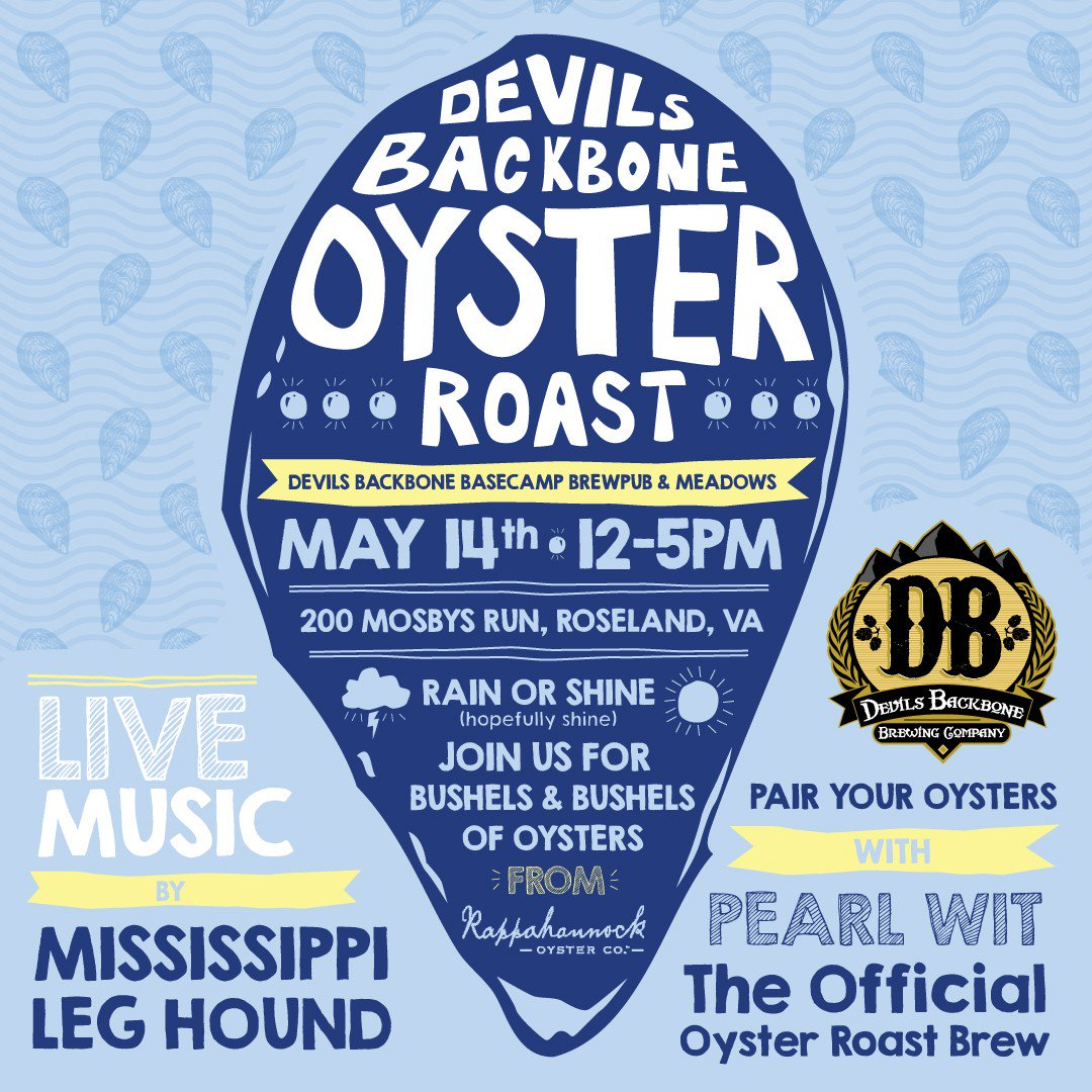 *SAVE THE DATE* May 14 #DBOysterRoast @ Basecamp, order your tix online https://t.co/pdQGxe2YAh #craftanadventure https://t.co/DDX54NJIiy