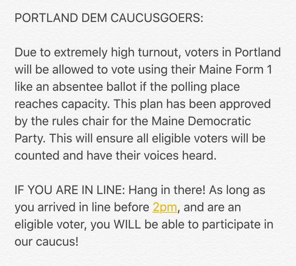 #mepolitics #PortlandMe Please spread the word. https://t.co/dNOSrGBMtv