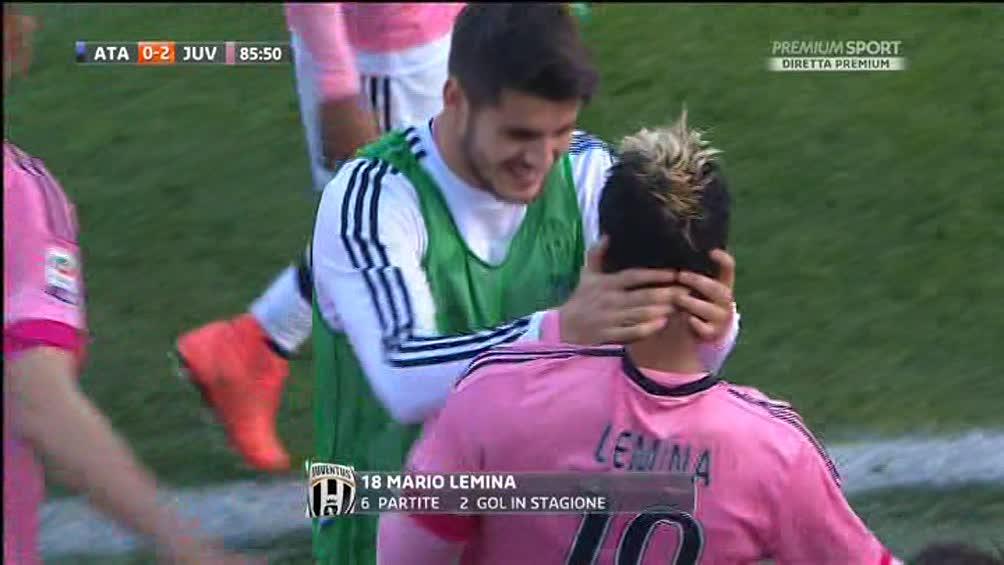 La Juventus vince a Bergamo, il Milan sprofonda con il Sassuolo, tra poco Inter-Palermo