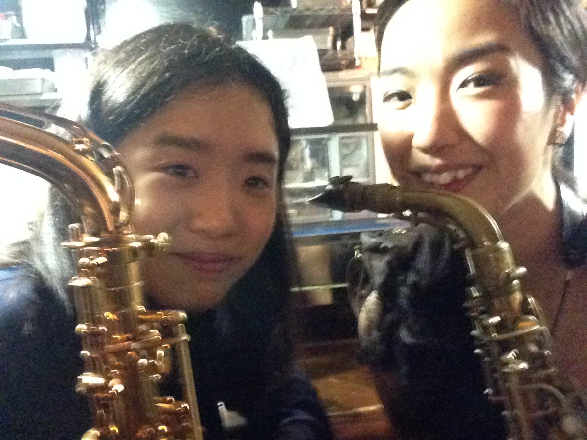 Today I had a chance to play with great saxophone lady Mrs. Saori Yano. Hope we play together very soon !! https://t.co/5iHEQZtMIw