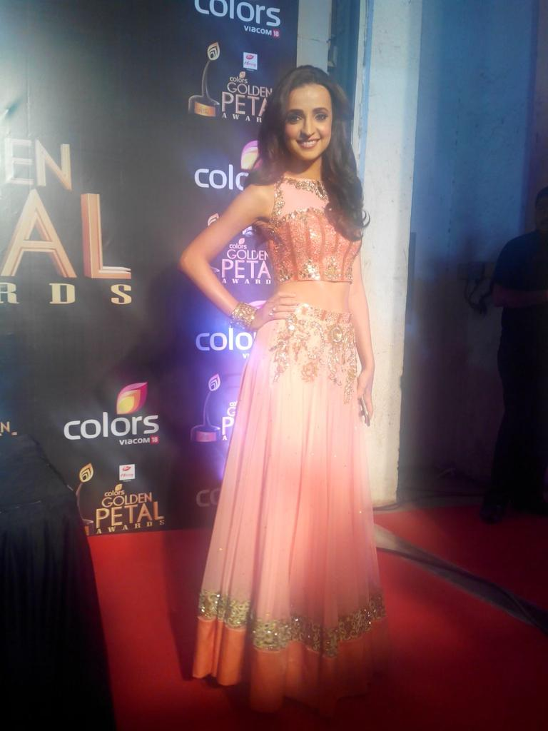 Sanaya Irani in a pink gown at Golden Petal Awards 2016, GPA 2016 image-pictures