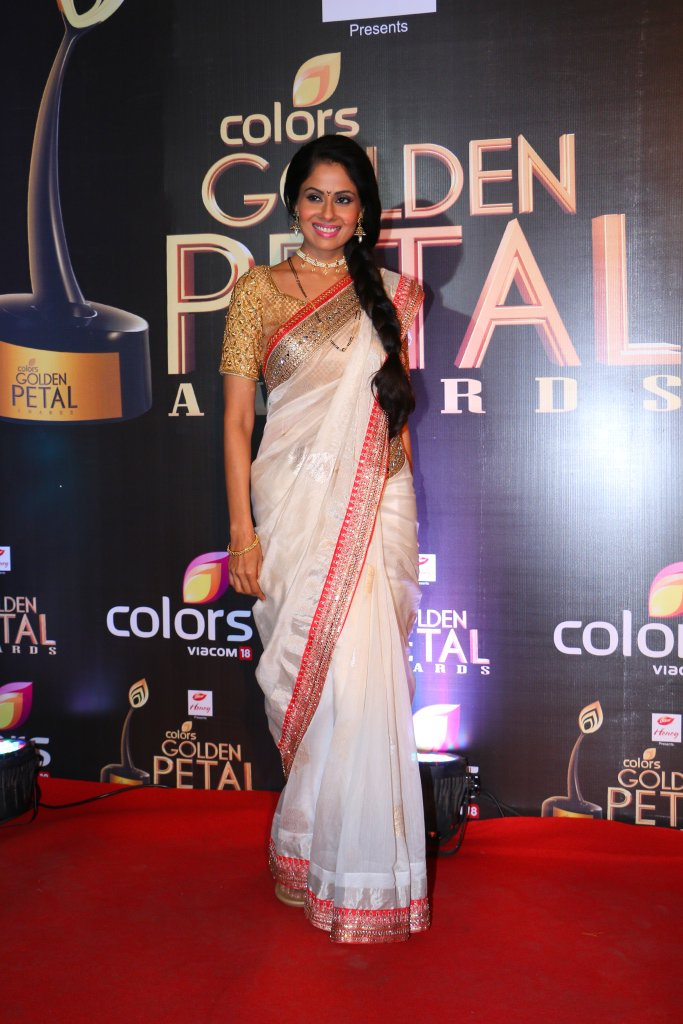 Chhavi Pandey aka Tulsi of Krishnadasi at Colors Golden Petal Awards 2016