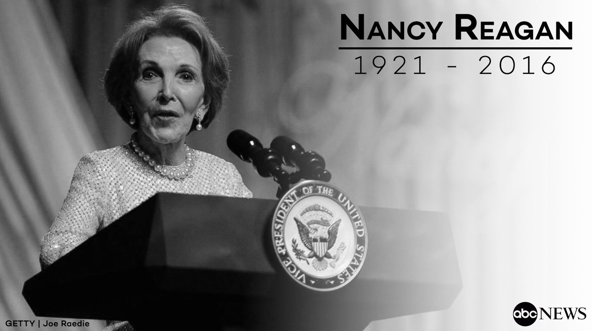 Rest in peace, Nancy Reagan. https://t.co/mJ5ypJDOG0 https://t.co/OTNi3plM6f