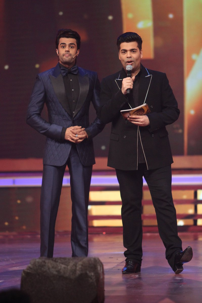 Manish Paul and Karan Johar Golden Petal Awards 2016 Image-Photo