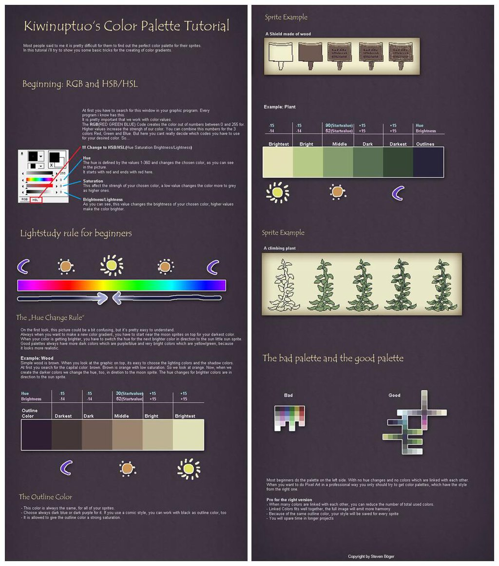 Pixel Cows On Twitter Excellent Color Palette Tutorial For Those