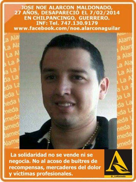 #Tebuscamos José Noé Alarcón Maldonado, 27años, 7/2/14 #Chilpancingo #Gro #Guerrero @GenaroHita https://t.co/XO7pKFAzkw