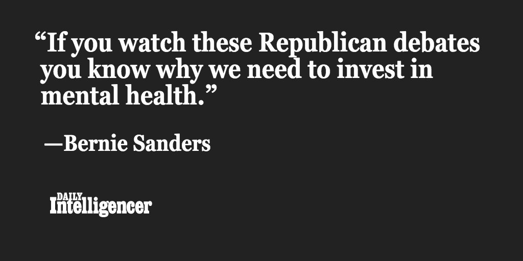 Sanders offers one reason why the U.S. needs to invest more in mental health. #DemDebate https://t.co/3SeE2RS3AA