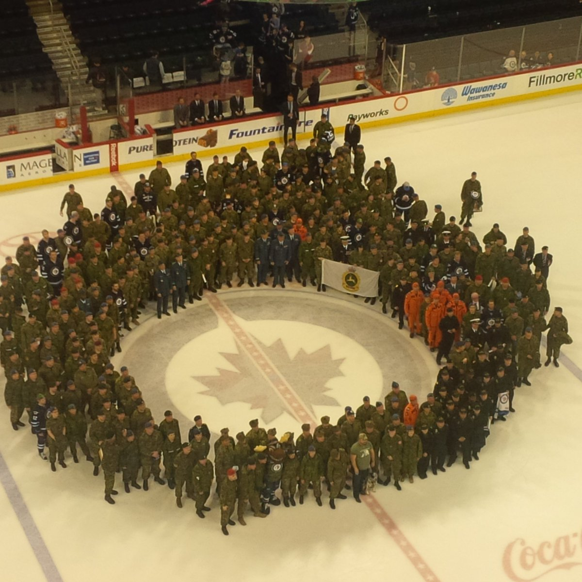 Every year, the post-game, on-ice, scene at #NHLJets Military Appreciation Night is fantastic. No exception tonight. https://t.co/ByZO6yu8Bj