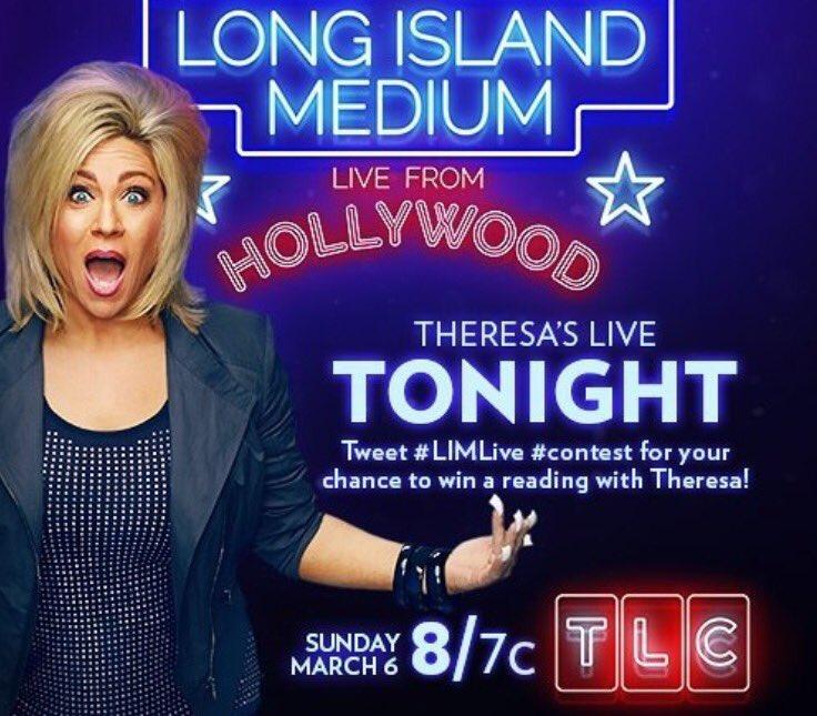 Tonight at 11pm EST @TLC I'm on the amazing @Theresacaputo Long Island Medium TV show!! #LongIslandMedium #LIMLive https://t.co/7qF4QdKohg