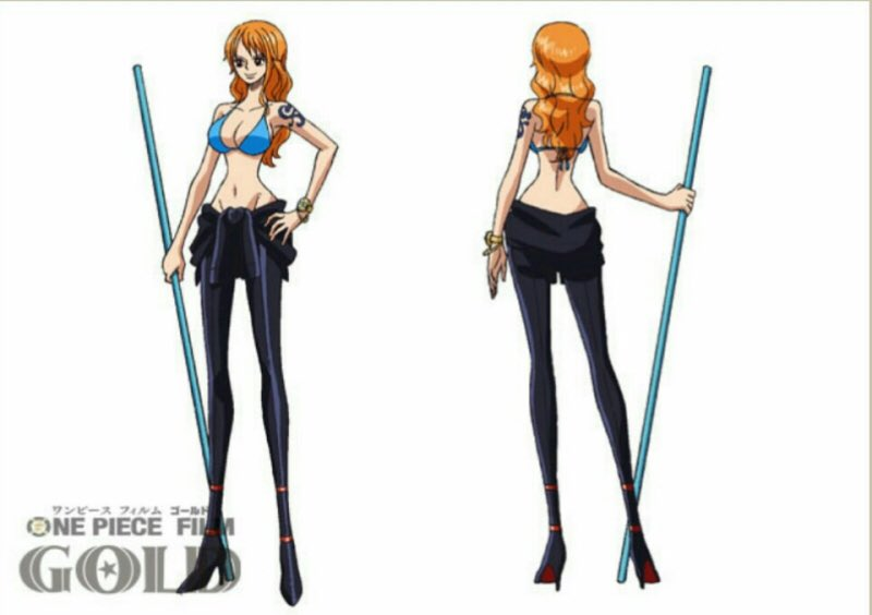 Character Design One Piece : 航海士 ナミ onepiece on twitter quot ワンピース film gold op水着 白ナミ 黒ナミ