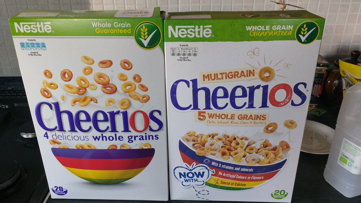BREAKING: They've added another grain to Cheerios https://t.co/FRn3FkACBh