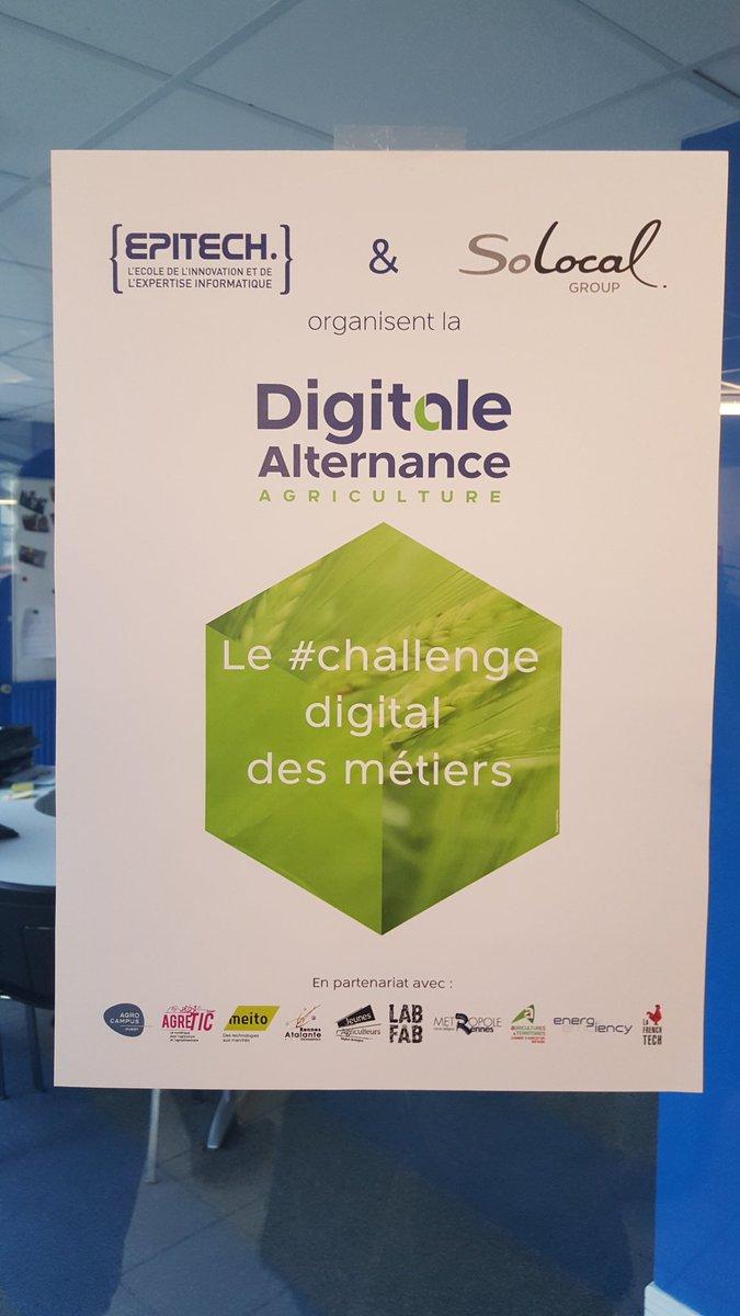 #hackathon croisement filières #numérique #agriculture @Digitalealternance : c'est parti pour 56 étudiants @Epitech https://t.co/3JNgnOATJa