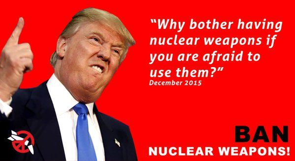 Image result for Trump & nuclear war
