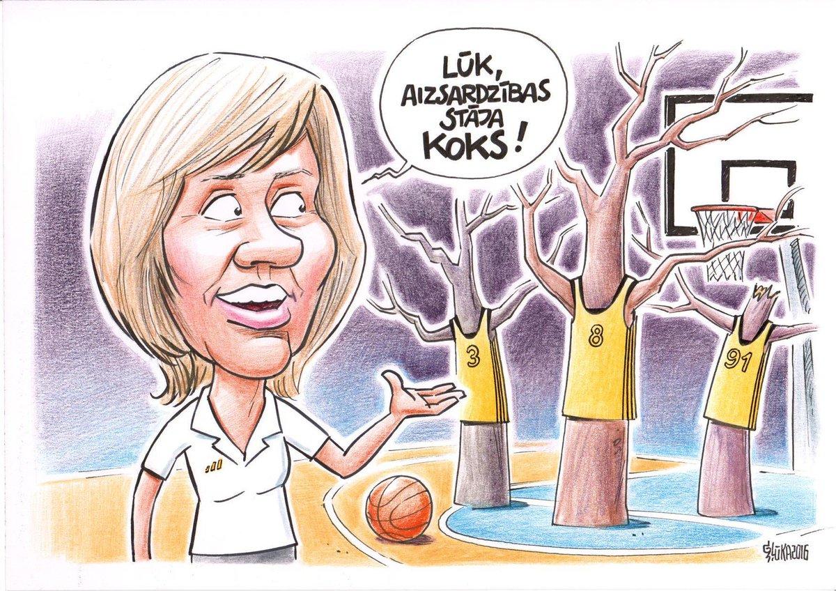 Daiga Jansone: ''Nu vienkārši fantastiski, kā tas tagad saucas? Aizsardzības stāja koks?'' @KarikaturaLv