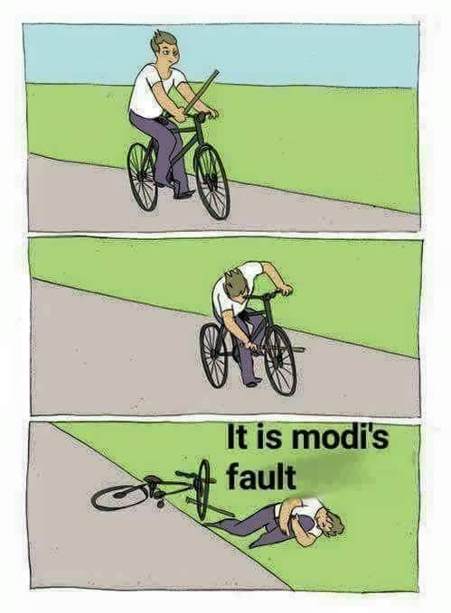 It's modi's fault. I swear.  #lol @narendramodi #india https://t.co/YcWFesZTt9