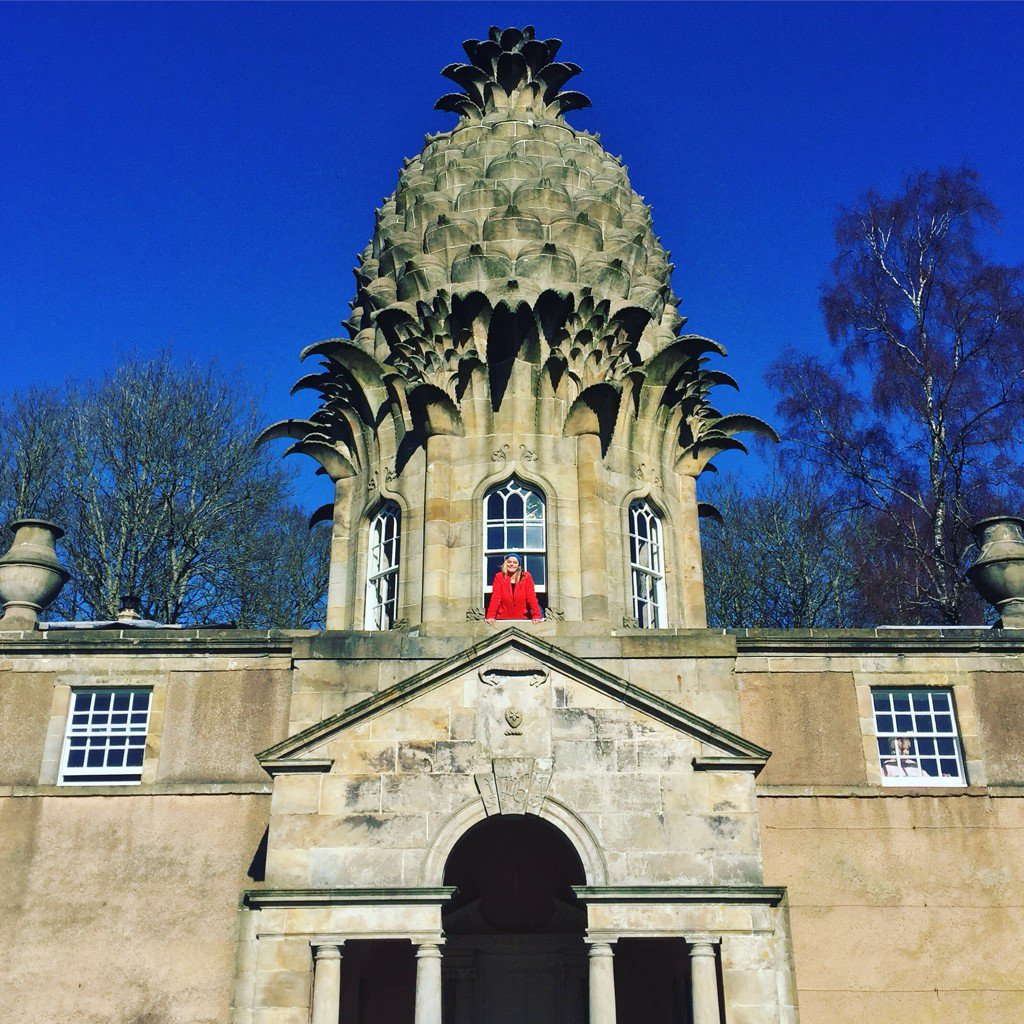 Morning from the @LandmarkTrust Pineapple!