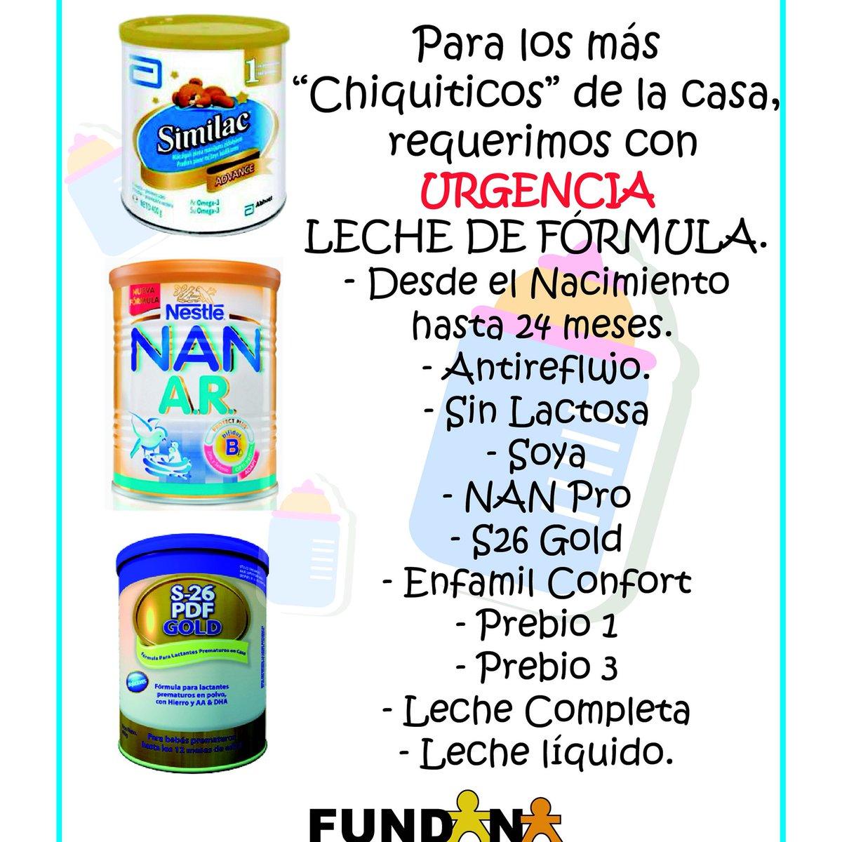 Necesitamos leche de fórmula para los niños de @FFUNDANA si nos puedes ayudar llamanos 02122575152 https://t.co/qgE2d3nIdq