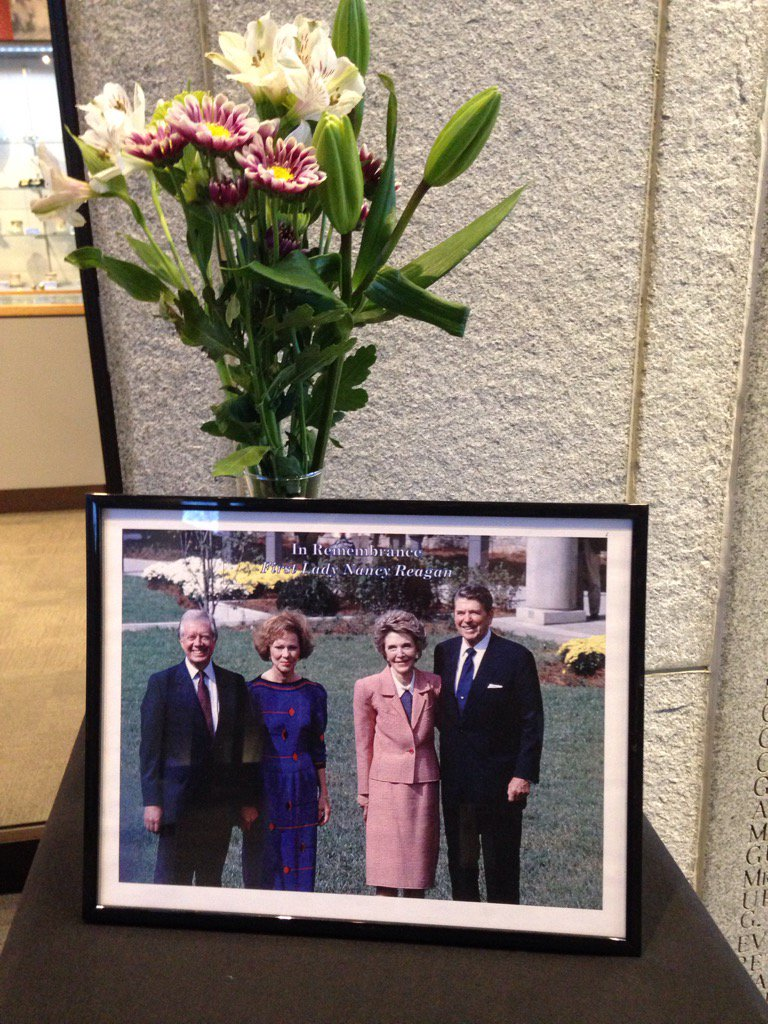 Remembering Former First Lady Nancy Reagan at the Carter Presidential Library https://t.co/eupcX1LCKR