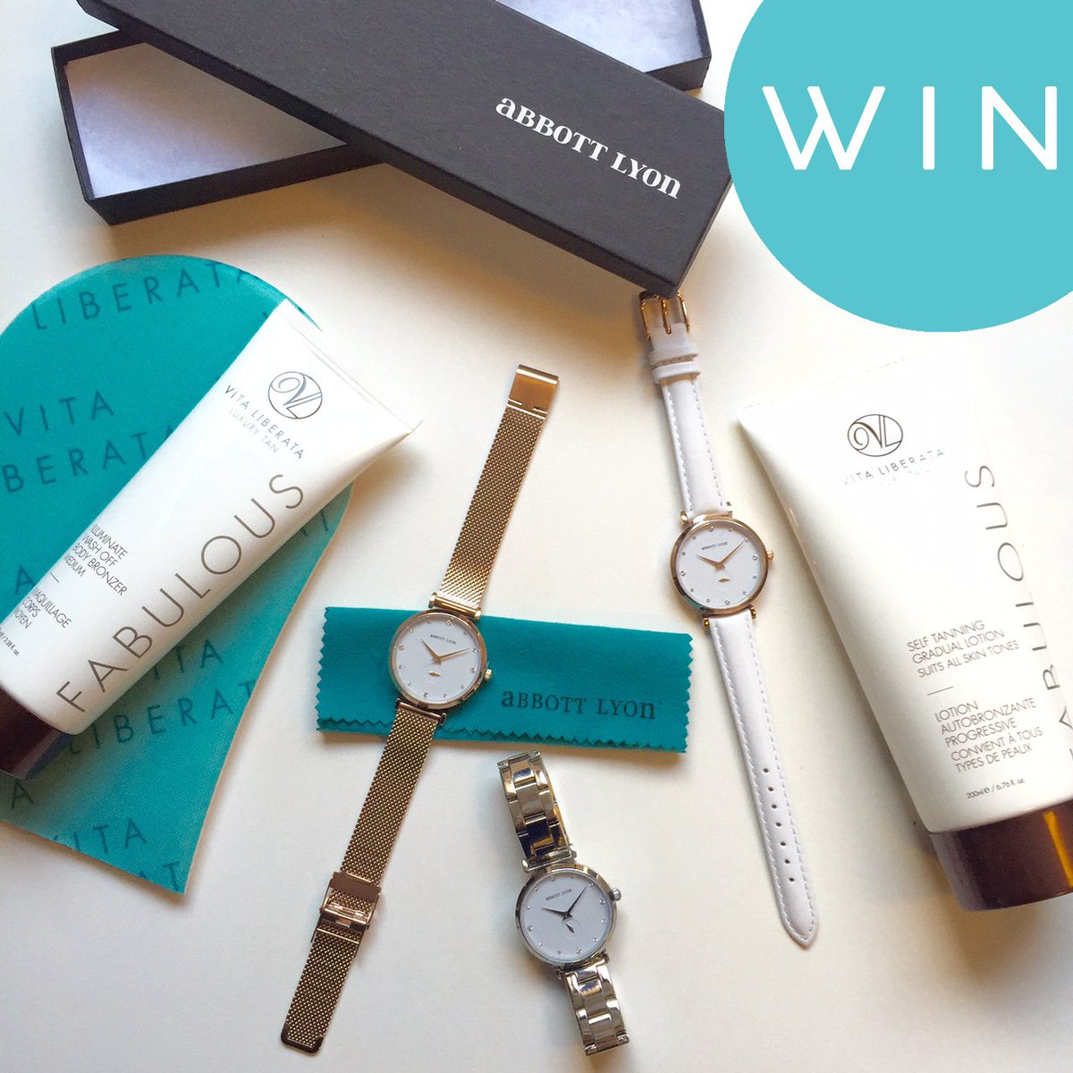 #Win a gorgeous @AbbottLyon watch & #VitaLiberata goodies in our exclusive giveaway! RT & Follow to enter! Ends13/03 https://t.co/DmZ3WS7F76