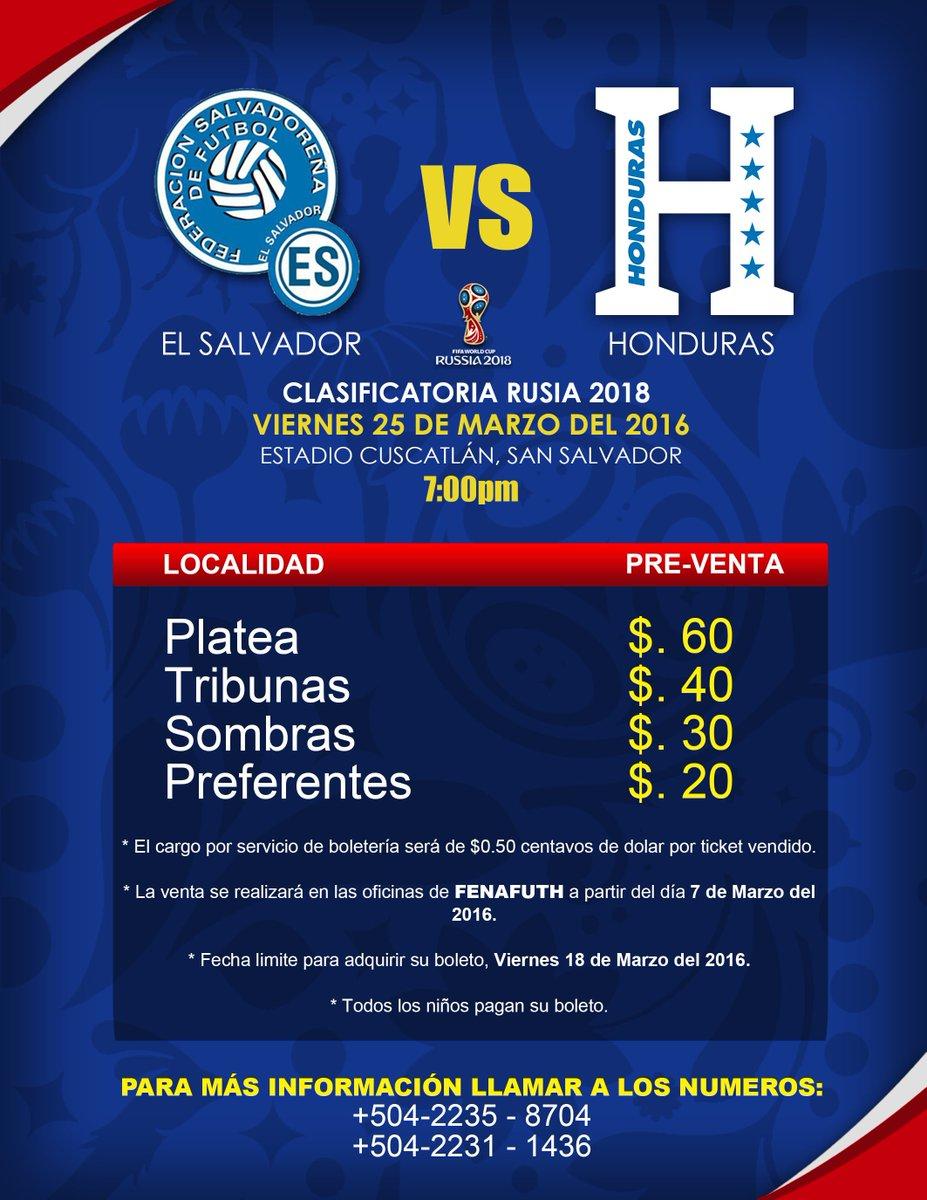 Rusia 2018: El Salvador vs Honduras en el Cuscatlan el 25 de marzo del 2016.  Informacion del juego. Cc9_8gkVIAArZze