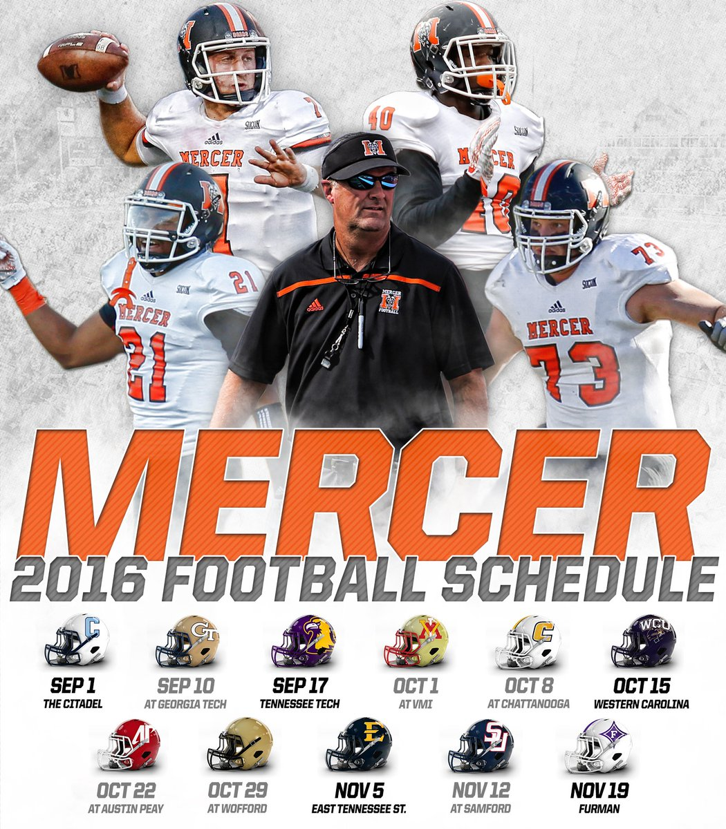 Mercer Football On Twitter Breaking Mercer Announces 2016