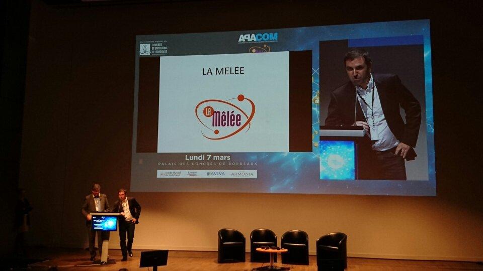 Pitch @LaMeleeAdour @La_Melee à la #NDRA2016 #Bordeaux #Aquitaine https://t.co/dt2rBLncHa