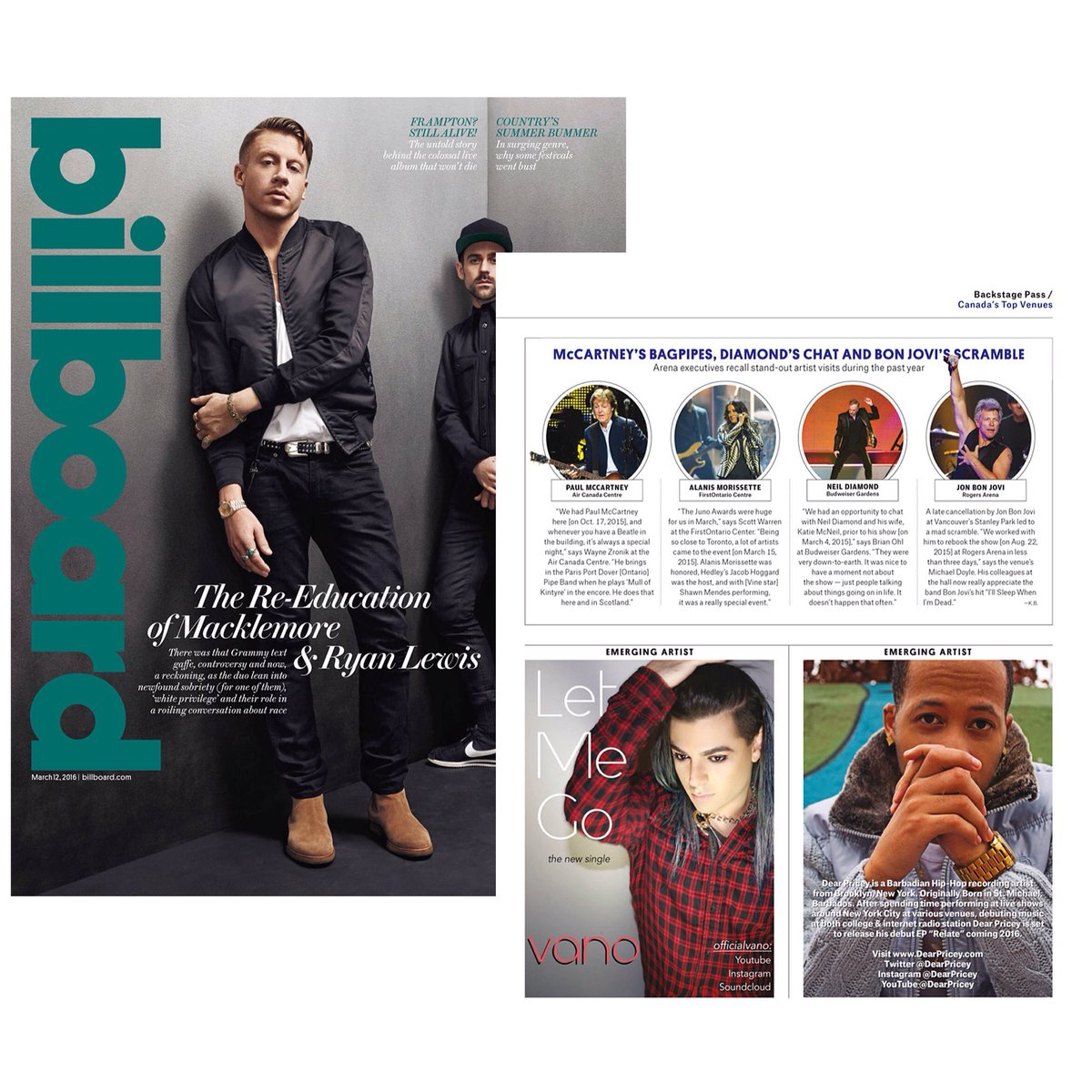 I read @billboard all the time. Now to finally be an emerging artist in there, definitely a dream come true