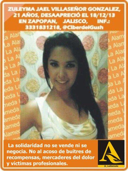 #Tebuscamos Zuleyma Villaseñor Gonzalez 21 años 18/12/13 #Zapopan #Jalisco #Guadalajara #Jal @pg2711 https://t.co/Qp97MKziBL