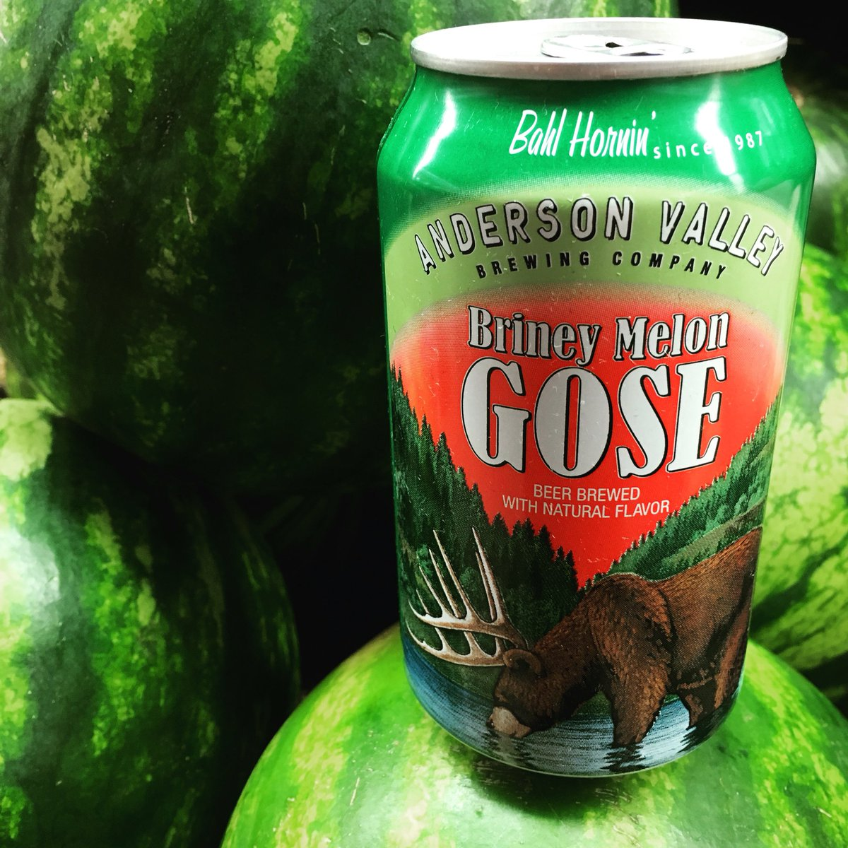 The FDA recommends 5 servings of fruit a day. Good thing these come in 6-packs. #watermelon #gose https://t.co/2AwZIovPUj
